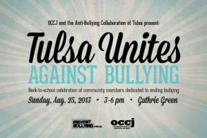 Tulsa unites against bullying rally social media decal